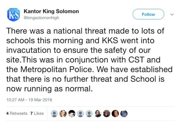 - school tweet - Teenage hacker admits making hoax bomb threats against schools and airlines
