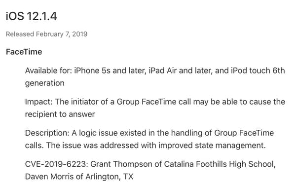 update your ios devices now against the facetime eavesdropping bug - ios credit - Update your iOS devices now against the FaceTime eavesdropping bug